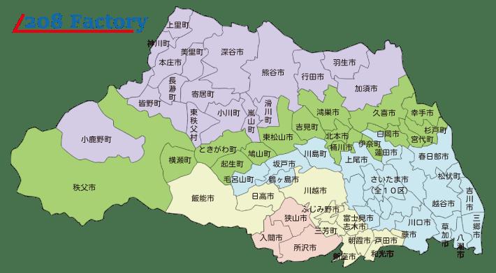 埼玉県出張価格地図